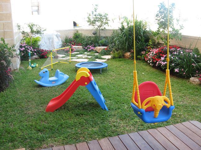 דירת גן מתאימה לילדים