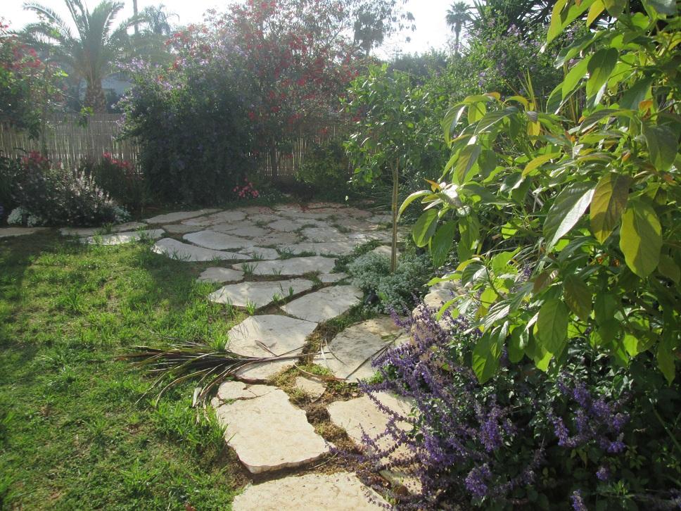 אבני מדרך לעיצוב ומעטפת מענינת לדשא