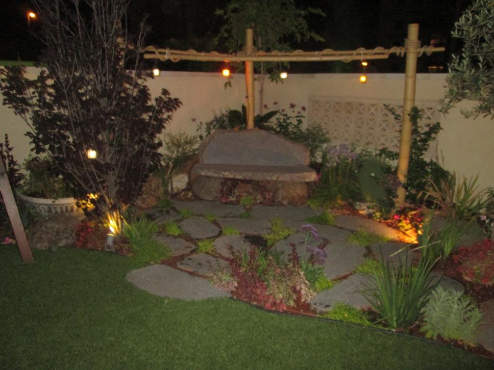 תמונות נוספות של אותה הגינה בשעות החשכה