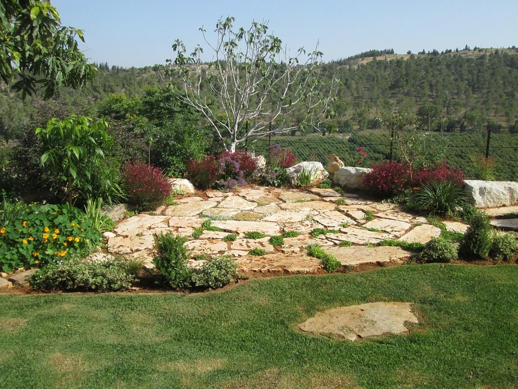 כשיש עיצוב נוף טבעי כזה לא כדאי לעשות הרב בגינה ולהתחרות בנוף הטבעי