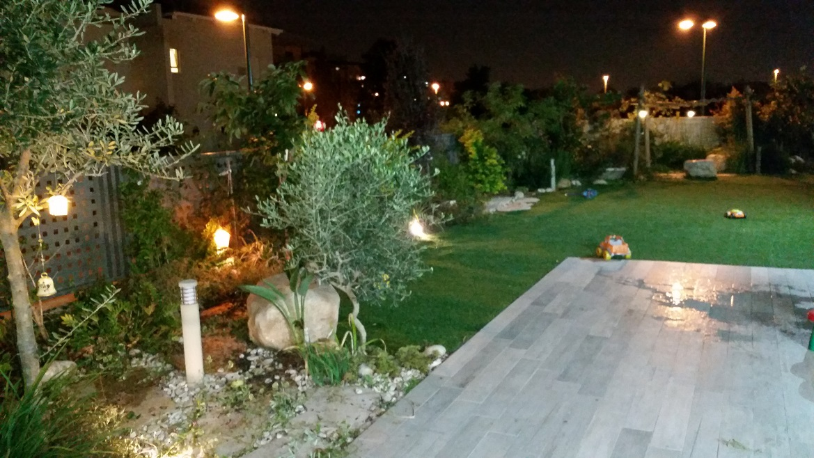 דירת הגן בקריית אונו ביקור ערב