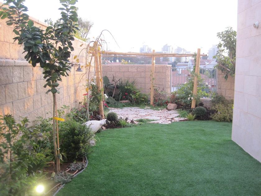 תכנון וביצוע גינה לדירת גן בכפר סבא