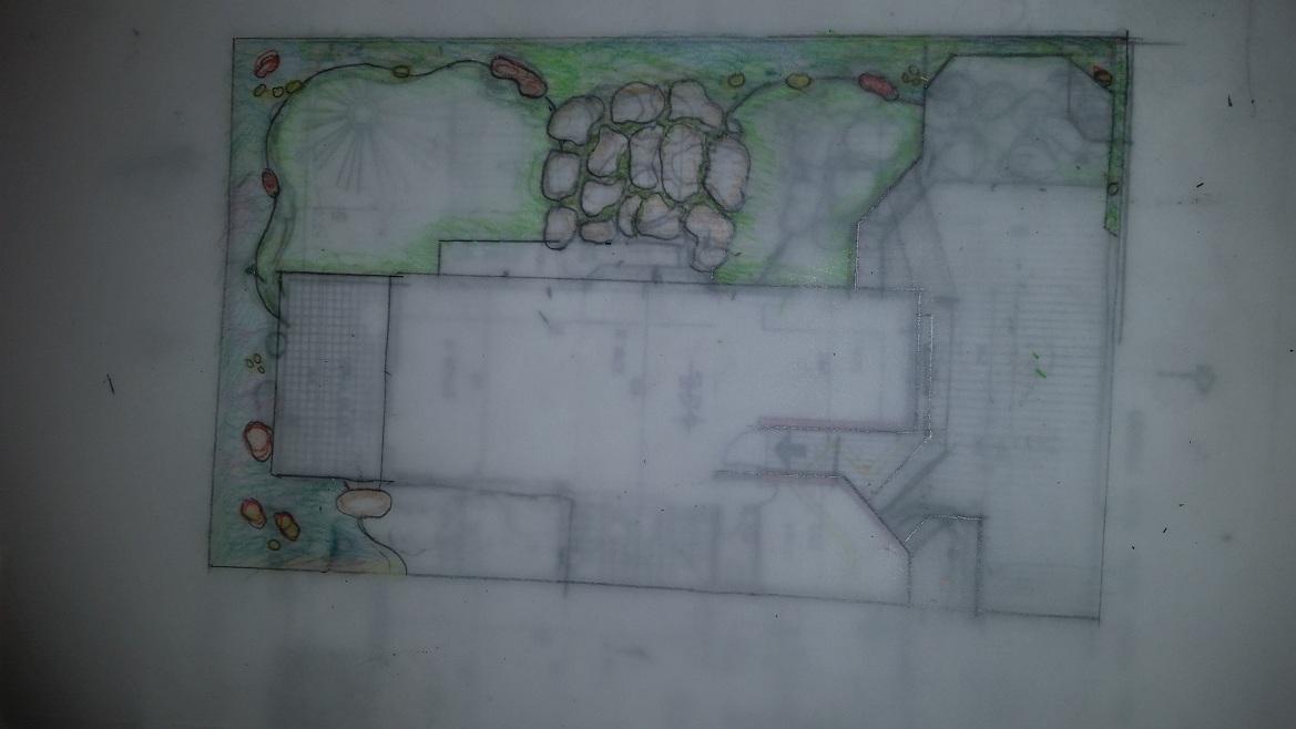 תוכנית לבית לפני שיפוץ מבפנים עם פתיחות החוצה והתכנון נעשה כשמעצבת הבית היתה נוכחת