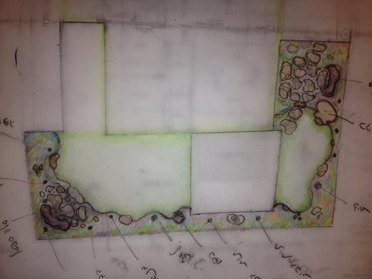 מה שמצאנו שהגענו לגינה זו זה דשא צד אחד הגדול ומצד השני טוף בחיפוי קרקע כודם כלעשינו את הקשר משני צידי משטח היציאה מהסלון אחכ עיצוב צמחיה וטופוגרפיה כד ענק מושקע בגינה על צידו עם הפתח לכיוון השוהים בגן סלע ספסל וחזרתיות קשר וקומפוזיציות שיתבגרו יפה לאורך הזמן