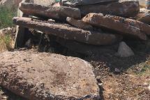 סלע בזלת שיכבתי פלטות גדולות