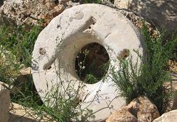 אבן עתיקה רחיים לא עתיקה מדי