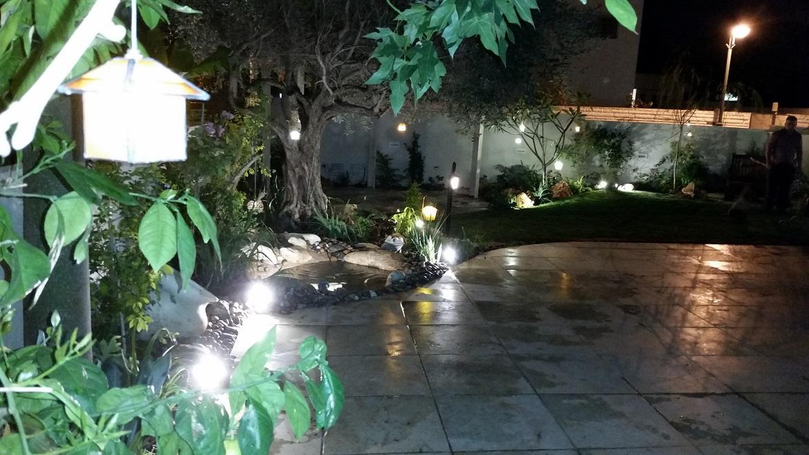 תאורת גינהבגינה מעוצבת ברמת השרון
