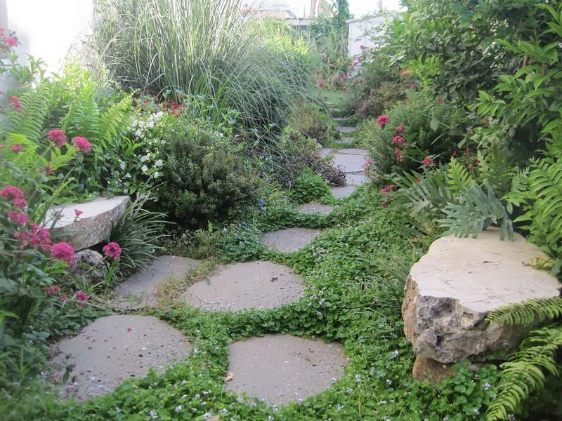 גינות מעוצבות בתכנון טוב של בחירת צמחים ושילובם ועיצוב צמחיה עם מחשבה