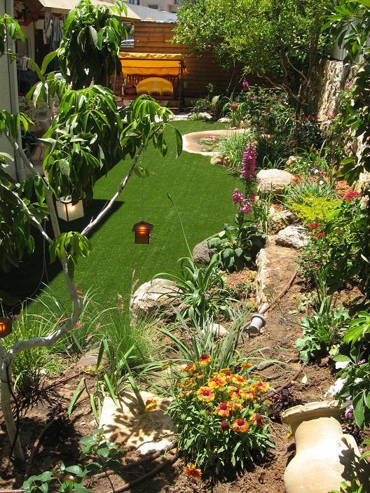 טרסה מעניינת ודשא עד לצמחייה