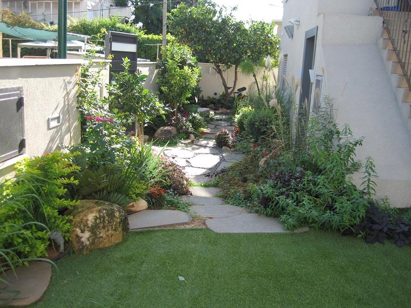 עיצוב הדשא העליון והחיבור שלו לגינה הקדמית