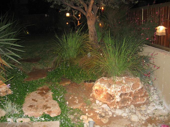 סלעים תומכי אדמה עוזרים לעצב בסגנון פראי