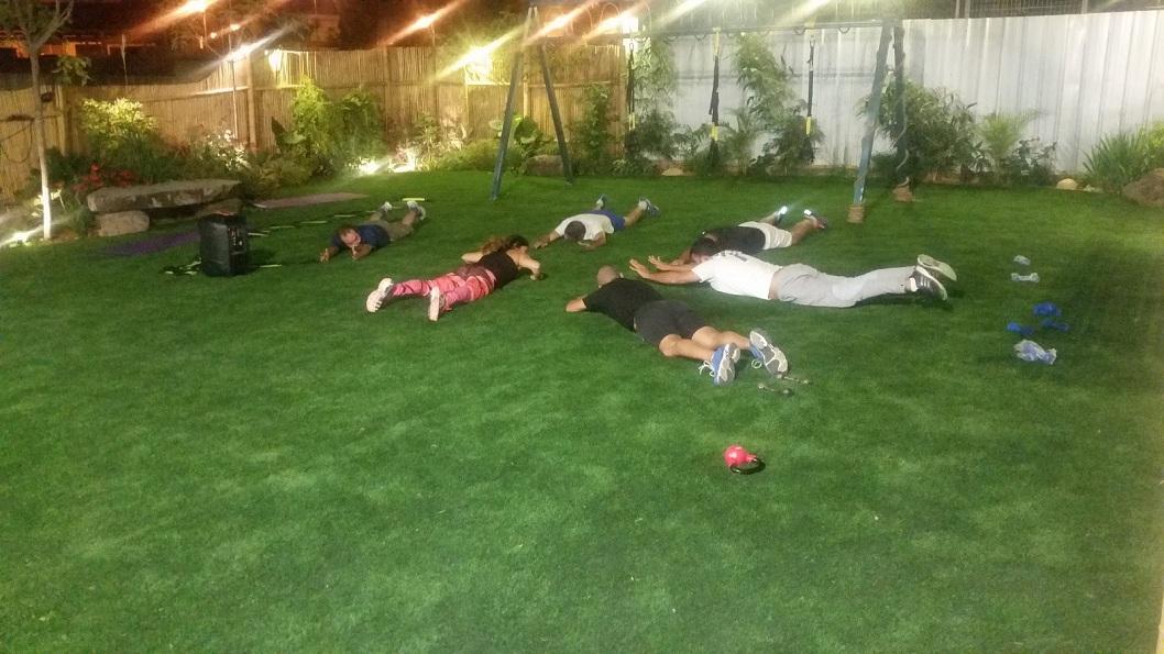 אימון תרגיל כושר ופילאטיס בכפר יונה